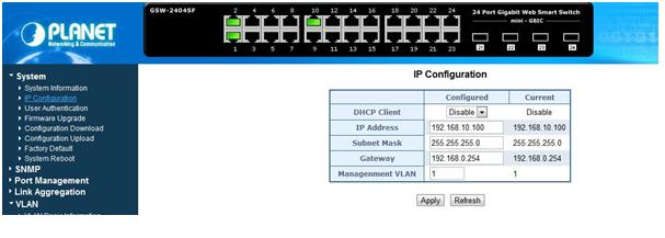 Configuring 802 1Q VLANs on Vigor3200 and Planet Smart Switch